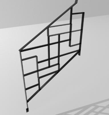 modélisation garde corps motif mondrian fond blanc 3600×3600