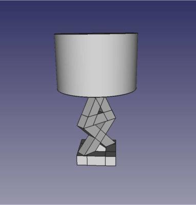 modélisation lampe PS