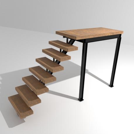 modelisation escalier droit 3600×3600