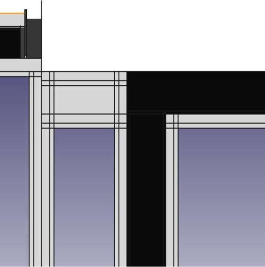 veranda goutiere et plein acier face