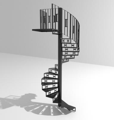 Modelisation escaliers colimacon fond blanc 3600×3600