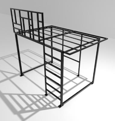 modelisation mezzanine style mondrian fond blanc 3600×3600