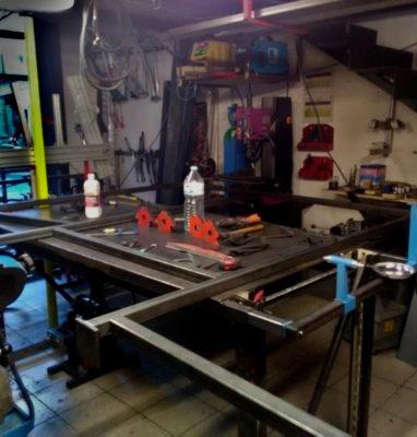 Fabrication mezzanine mondrian