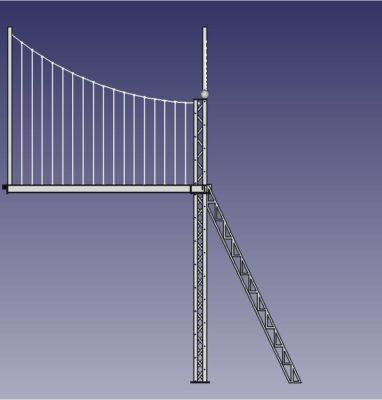modélisation cobannos mezza type eiffel pont suspendu cote porte
