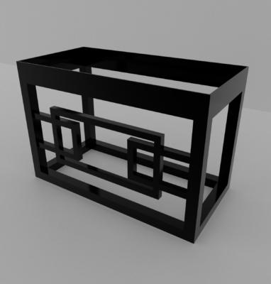 modélisation meuble art deco sdb fond blanc 3600×3600